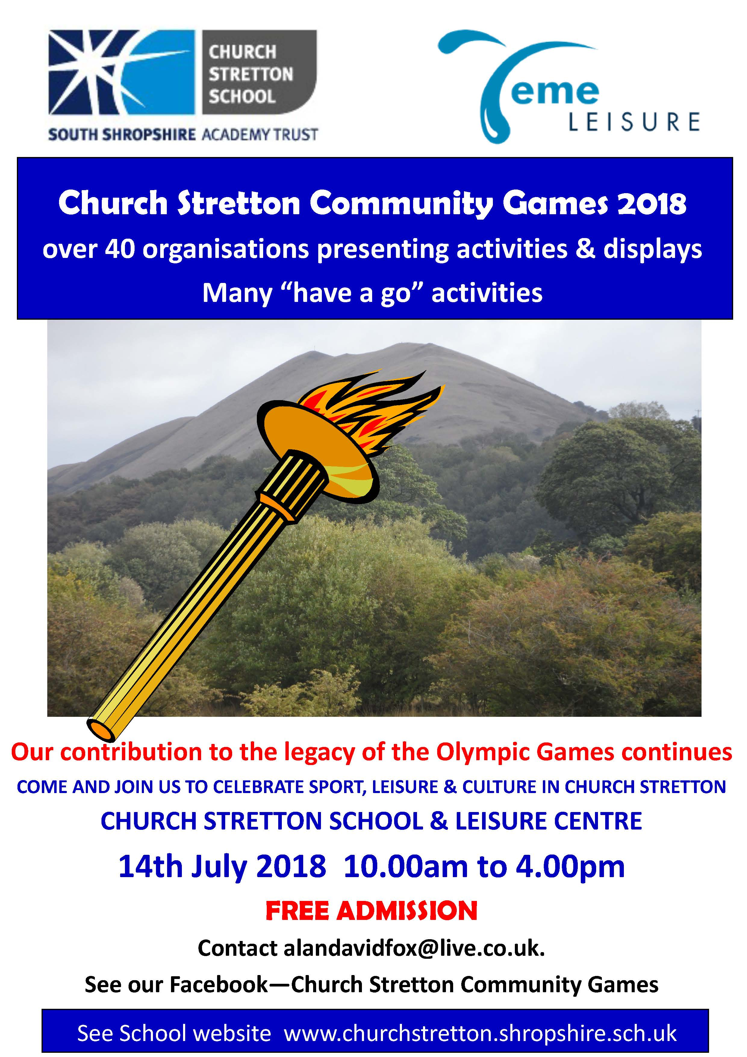 Community games poster 2018